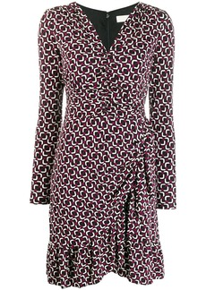 MICHAEL Michael Kors printed long-sleeved dress