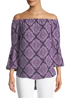 MICHAEL Michael Kors Printed Off-The-Shoulder Blouse