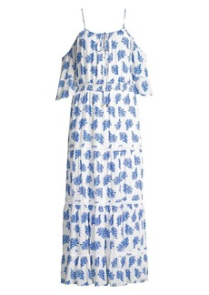 MICHAEL Michael Kors Printed Ruffle-Trimmed Maxi Dress