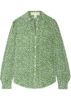 MICHAEL Michael Kors Printed washed-silk blouse