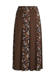 MICHAEL Michael Kors Psychedelic Slit Midi Skirt