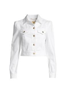 MICHAEL Michael Kors Puff Sleeve Denim Jacket