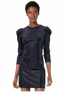 MICHAEL Michael Kors Puff Sleeve Glitter Velvet Dress