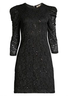 MICHAEL Michael Kors Puff Sleeve Sequin Lace Dress