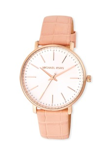 MICHAEL Michael Kors Pyper 38mm Watch w/ Additional Leather Straps