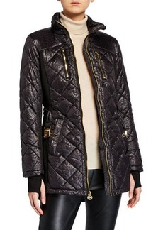 MICHAEL Michael Kors Quilted Faux-Down Coat
