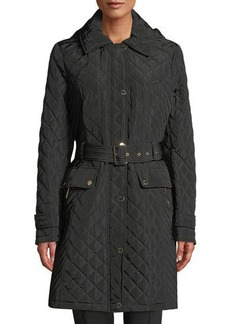 MICHAEL Michael Kors Quilted Snap-Front Hooded Coat