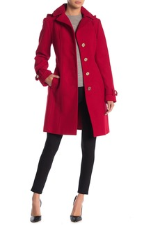 MICHAEL Michael Kors Removable Hood Belted Coat