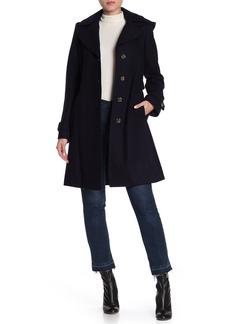 MICHAEL Michael Kors Removable Hood Belted Coat