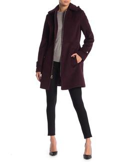 MICHAEL Michael Kors Removable Hood Zip Front Coat