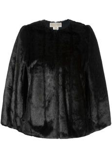 MICHAEL Michael Kors reversible faux fur cape