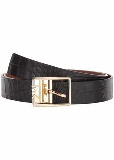 MICHAEL Michael Kors Reversible MK Buckle Belt