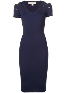 MICHAEL Michael Kors ribbed bodycon dress