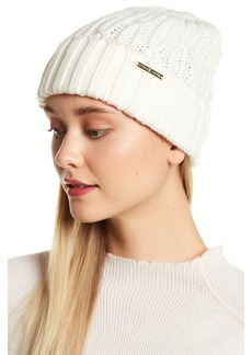 MICHAEL Michael Kors Ribbed Cable Knit Cuffed Hat