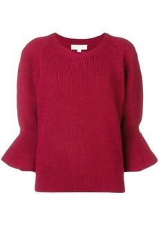 MICHAEL Michael Kors ribbed knit flute sleeve sweater