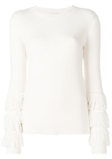 MICHAEL Michael Kors ribbed knit fringe sleeve sweater