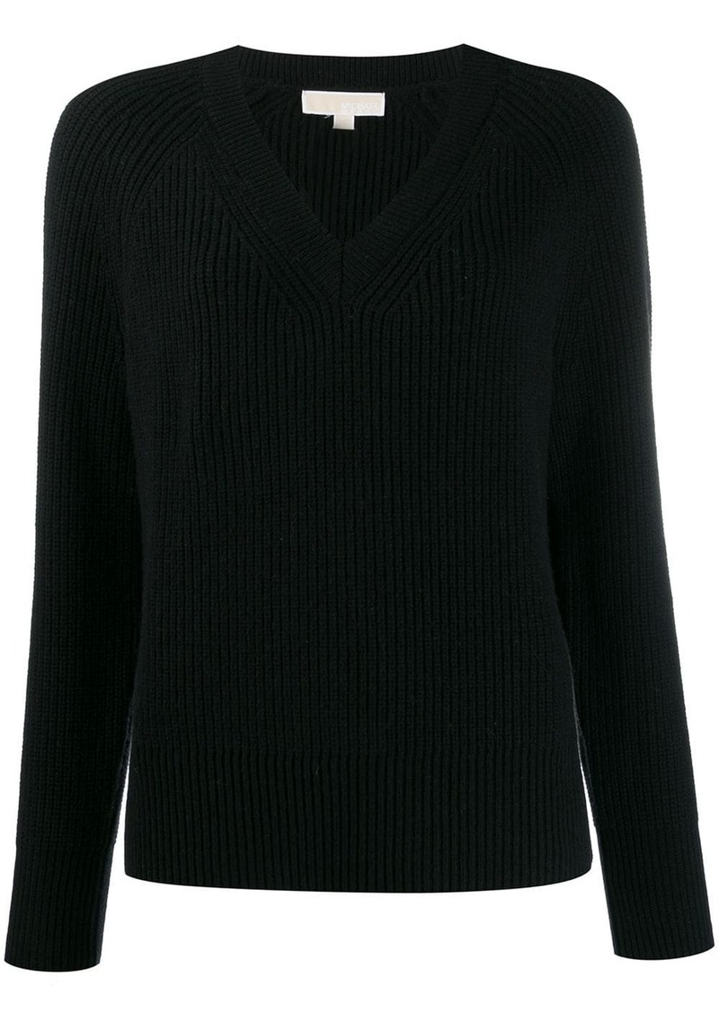 MICHAEL Michael Kors ribbed V-neck jumper