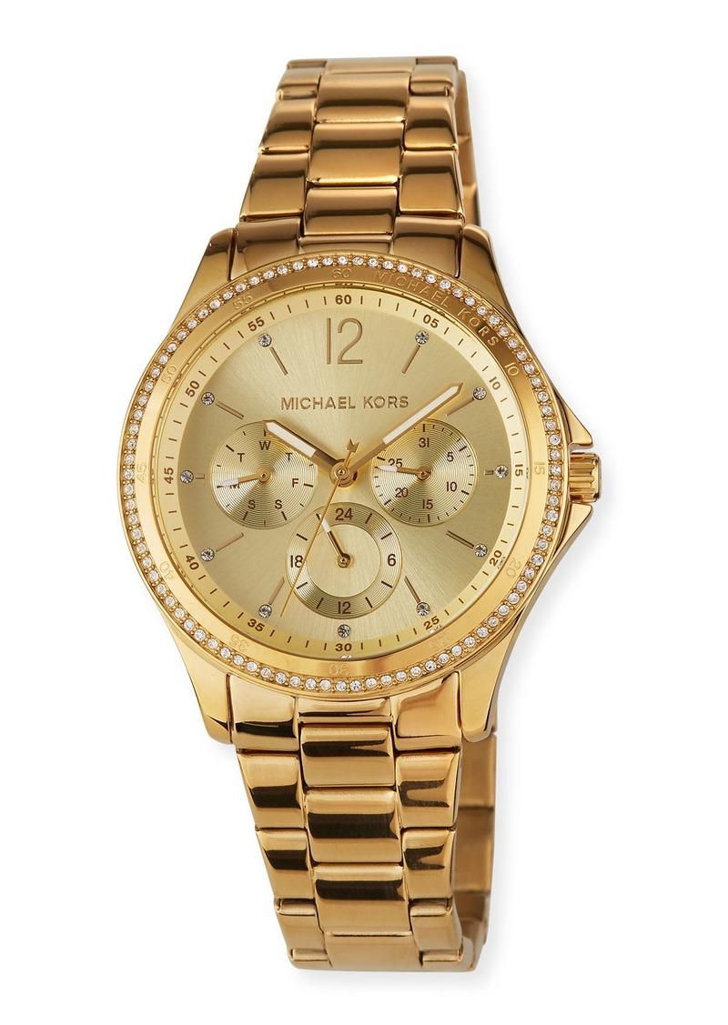 MICHAEL Michael Kors Riley Chronograph Watch with Bracelet Strap  Gold