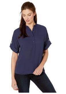 MICHAEL Michael Kors Roll Cuff Short Sleeve Top