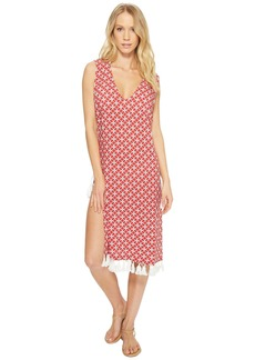 MICHAEL Michael Kors Rope Geo Cover-Up Dress w/ Lace-Up Sides