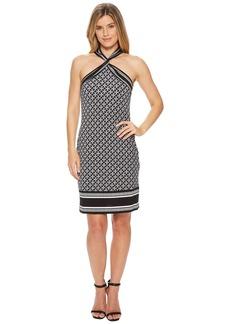 MICHAEL Michael Kors Rope Twist Neck Border Dress