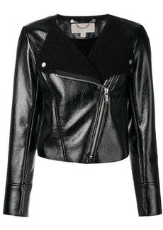 MICHAEL Michael Kors round neck fitted jacket