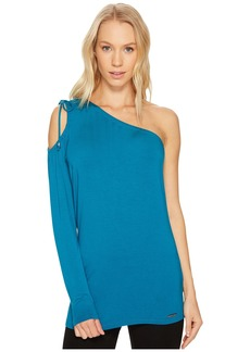 MICHAEL Michael Kors Ruched One Shoulder Top