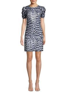 MICHAEL Michael Kors Ruched Sleeve Viper Print Dress