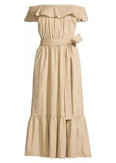 MICHAEL Michael Kors Ruffle Midi Dress