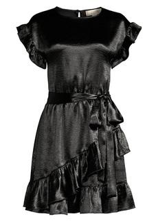 MICHAEL Michael Kors Ruffle Satin Wrap Dress