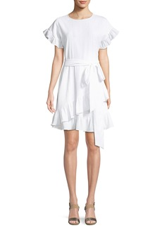 MICHAEL Michael Kors Ruffle-Trim Mini Wrap Dress