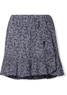 MICHAEL Michael Kors Ruffled Printed Crepe Mini Skirt