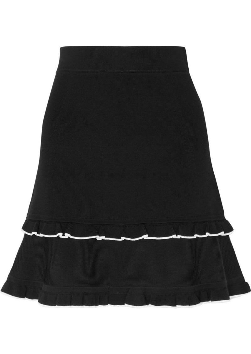 MICHAEL Michael Kors Ruffled Knitted Mini Skirt