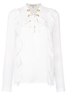 MICHAEL Michael Kors ruffled lace-up blouse