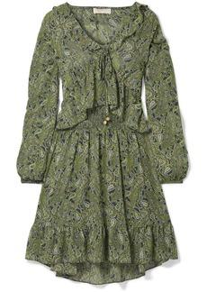 MICHAEL Michael Kors Ruffled Printed Chiffon Mini Dress
