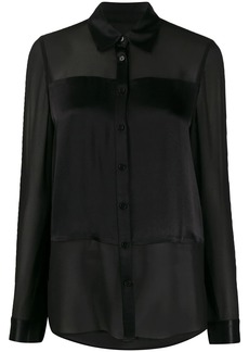 MICHAEL Michael Kors satin-panel chiffon blouse