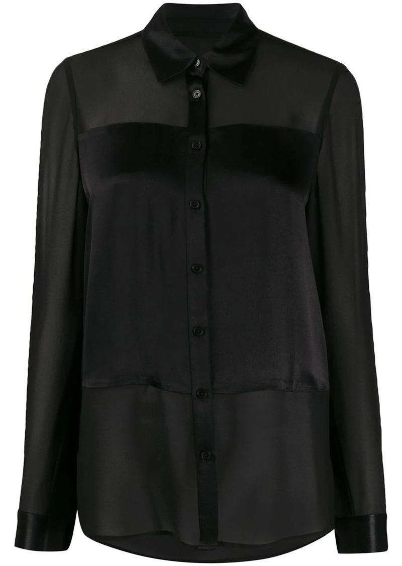 MICHAEL Michael Kors satin-panel chiffon blouse