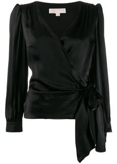 MICHAEL Michael Kors satin tie blouse