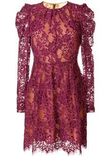 MICHAEL Michael Kors scalloped floral lace dress