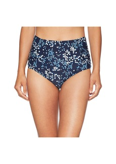MICHAEL Michael Kors Scattered Blooms High-Waisted Bikini Bottoms