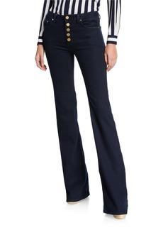 MICHAEL Michael Kors Selma Button-Front Flare Jeans