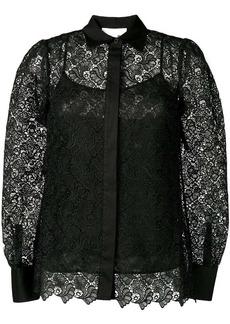 MICHAEL Michael Kors semi-sheer floral lace shirt