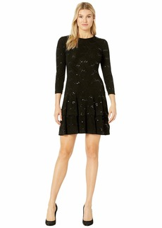 MICHAEL Michael Kors Sequin Jacquard Double Tier Dress
