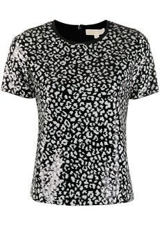 MICHAEL Michael Kors sequinned leopard top