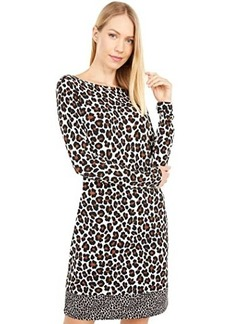 MICHAEL Michael Kors Seventies Cat Long Sleeve Border Dress