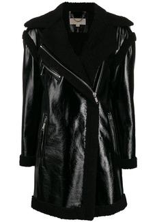 MICHAEL Michael Kors shearling lining zip coat