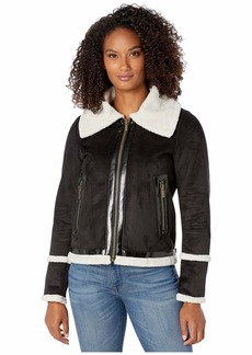 MICHAEL Michael Kors Shearling Neck Jacket