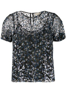 MICHAEL Michael Kors sheer sequined blouse
