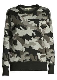 MICHAEL Michael Kors Shimmer Camo Jacquard Sweater