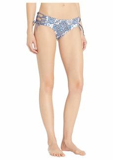 MICHAEL Michael Kors Shirred Bikini Bottoms with Adjustable Side Ties